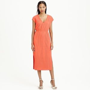 J. Crew Orange Midi Dress in size 8